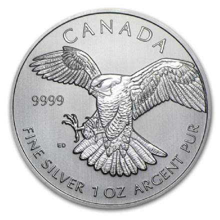 2014 Silver Peregrine Falcon Crown 1oz Coin